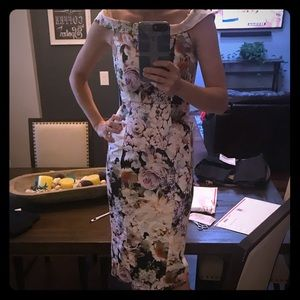 Asos pinup floral dress size 0 midi